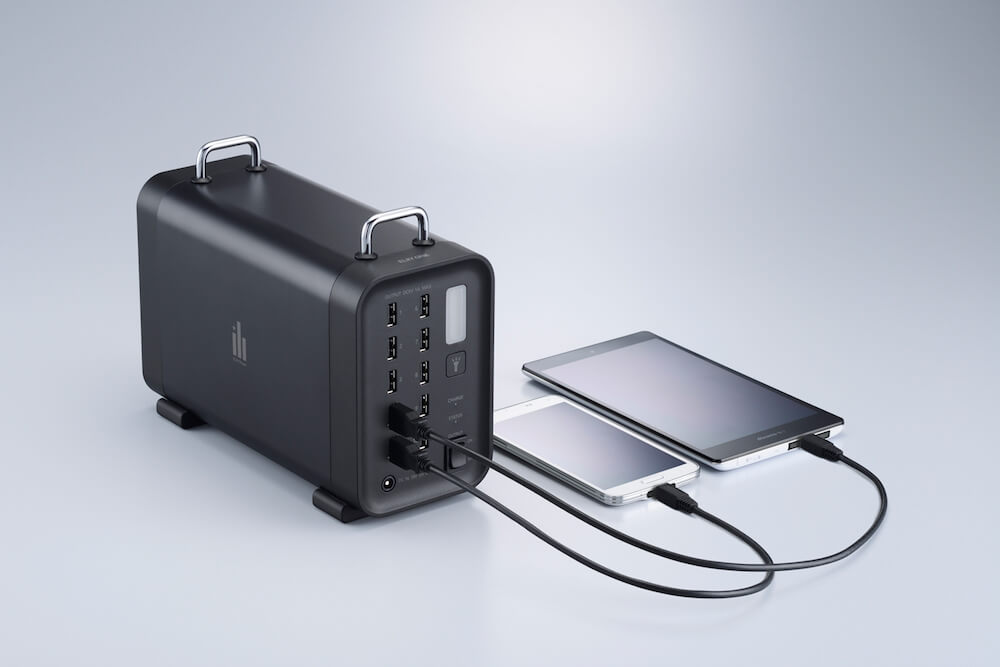 ポータブル蓄電池システムELIIY ONE