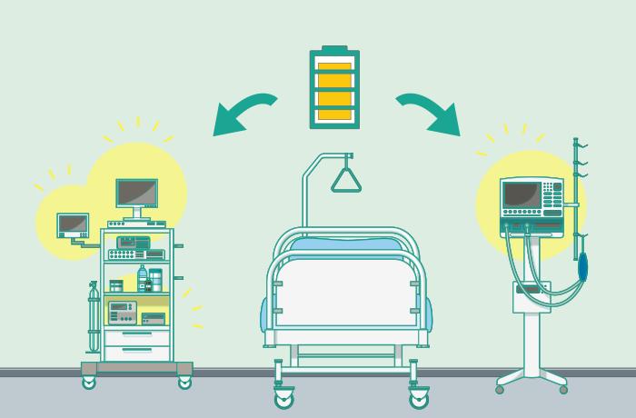 病院向けの蓄電池